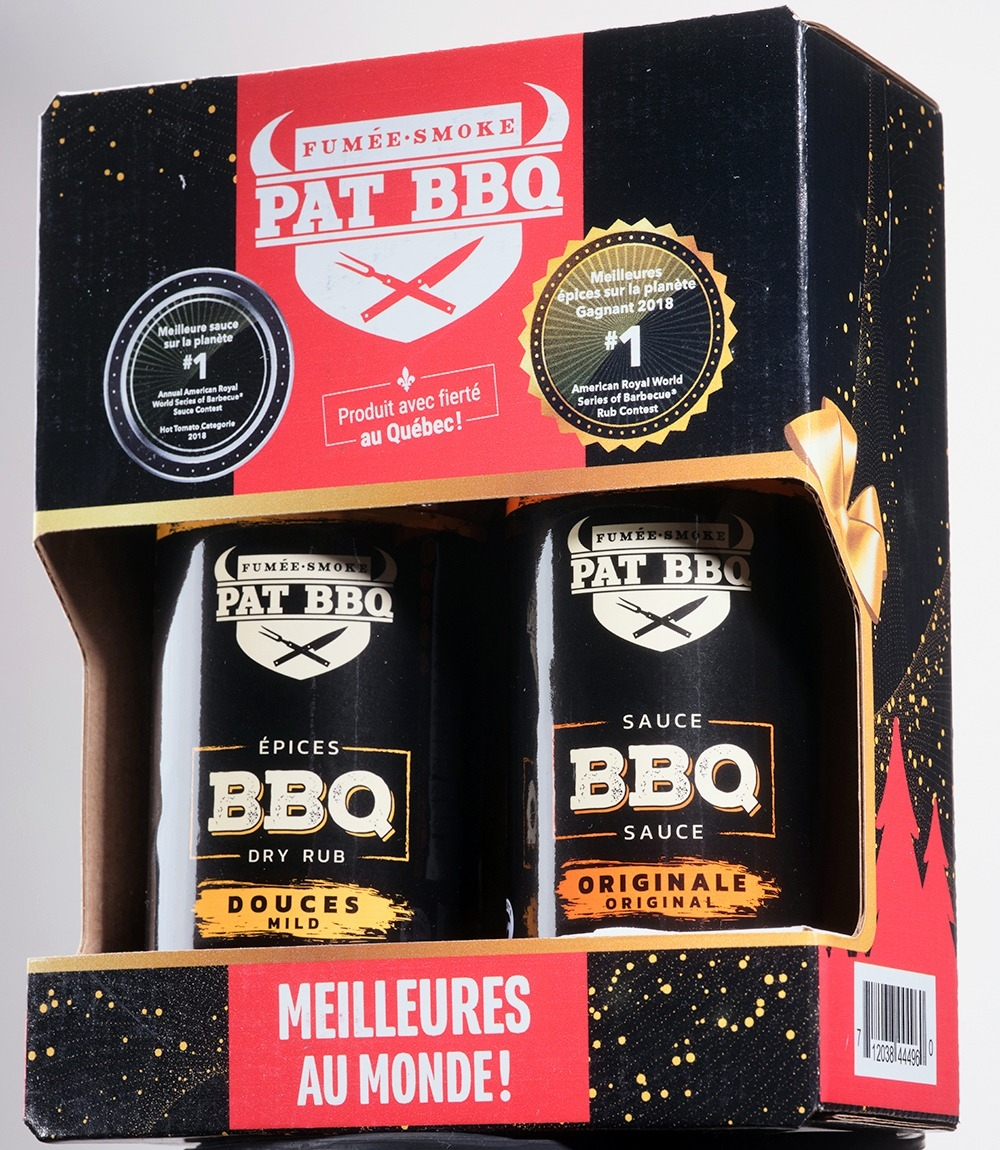 Boîte Cadeau 1 Sauce Originale. 1 épices douces 350g